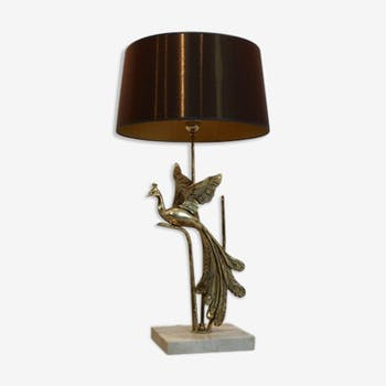 Lampe paon de travertin