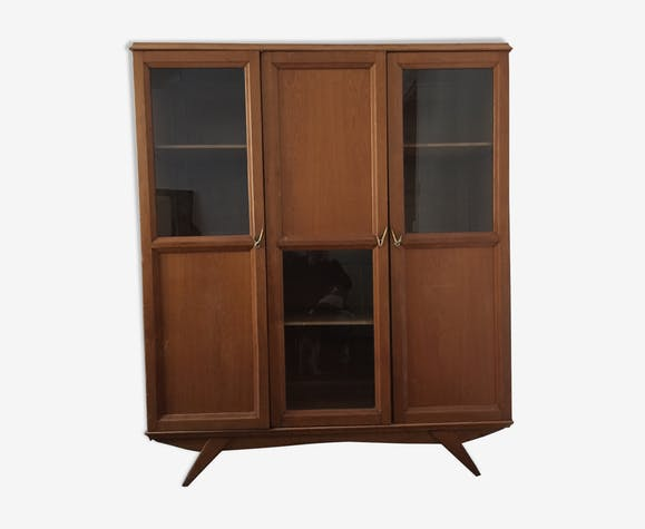 Library showcase 3 cabinet doors vintage
