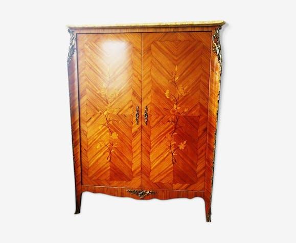 Armoire style Louis XV marqueterie bois de rose - bois ...