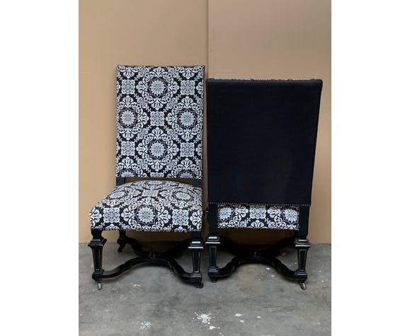 Set two Napoleon III chairs