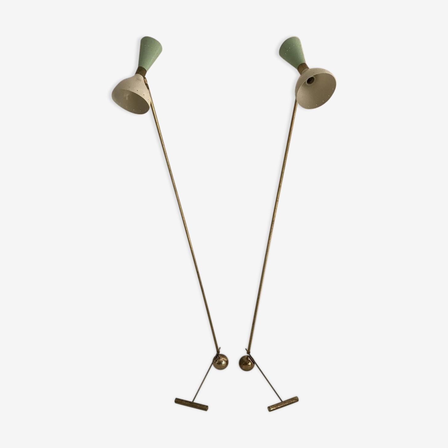 Paire de lampadaire sur pied des années 50