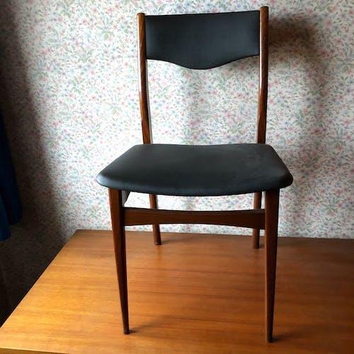 Chaise bureau design TFM scandinave en teck