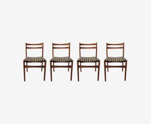 Ensemble de 4 chaises de salle à manger pour Strand, années 1970