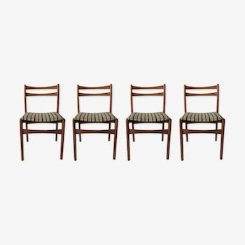 Set of 4 mid-century dining chairs for Strand, 1970s