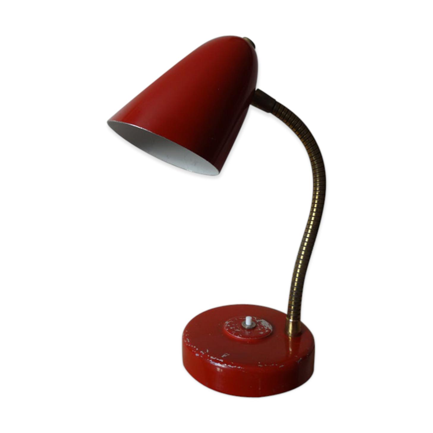 Lampe De Bureau Articulee Annees 50 Metal Red Vintage Gewblyl