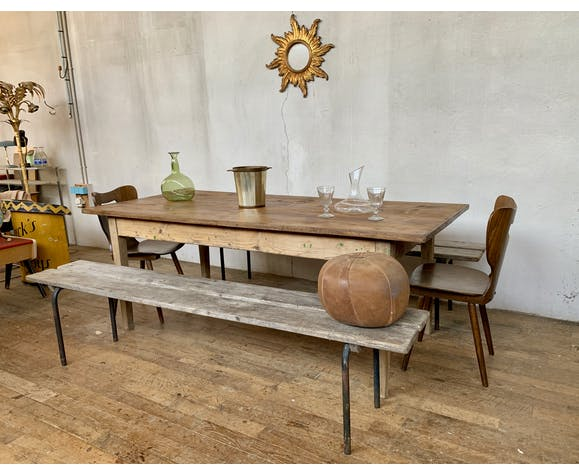 Farm table bistro workshop early 20th in wood