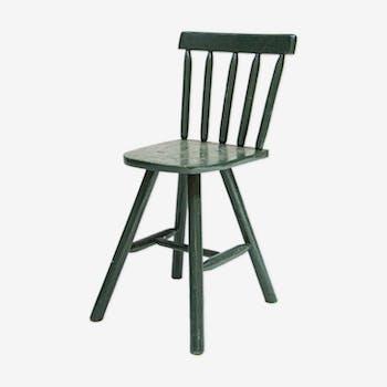 Vintage green wood chair
