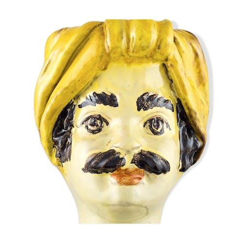 Vase tête mini jaune homme