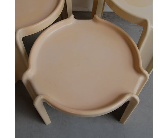 """Table gigognes """"4905"""" by Giotto Stoppino for Kartell , 1970s"""