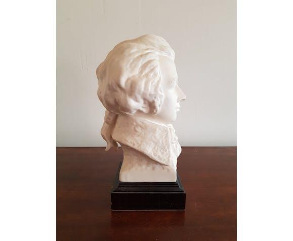 Sculpture biscuit buste Mozart signé G. Bochmann Goebel W