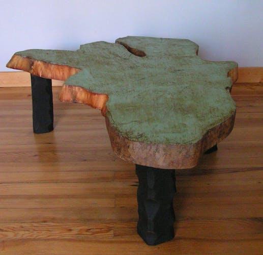 Table basse rondin de bois
