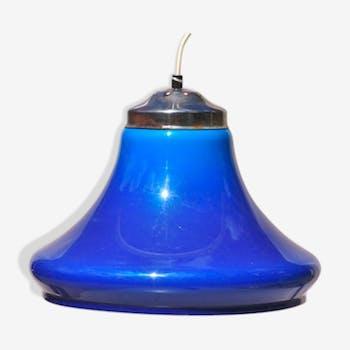 Suspension vintage bleue