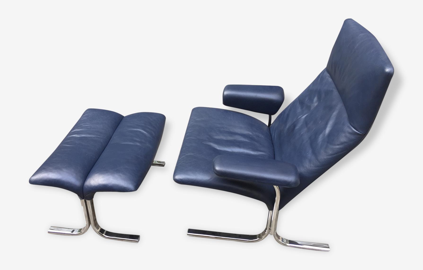 Lounge chair et son ottoman DS-2030 par Hans Eichenberger