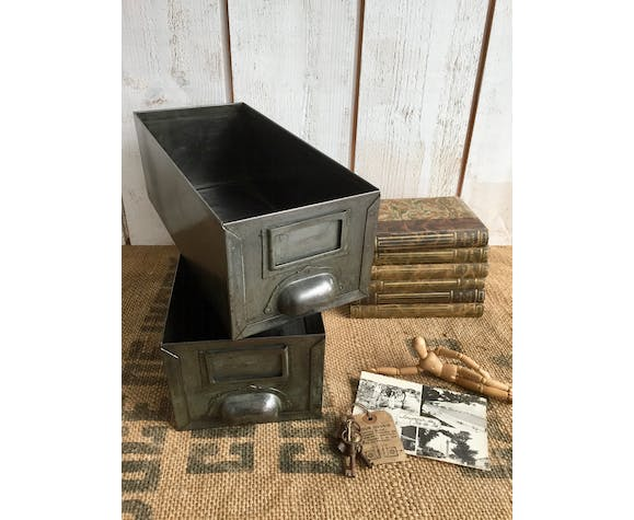 Pair of industrial drawers