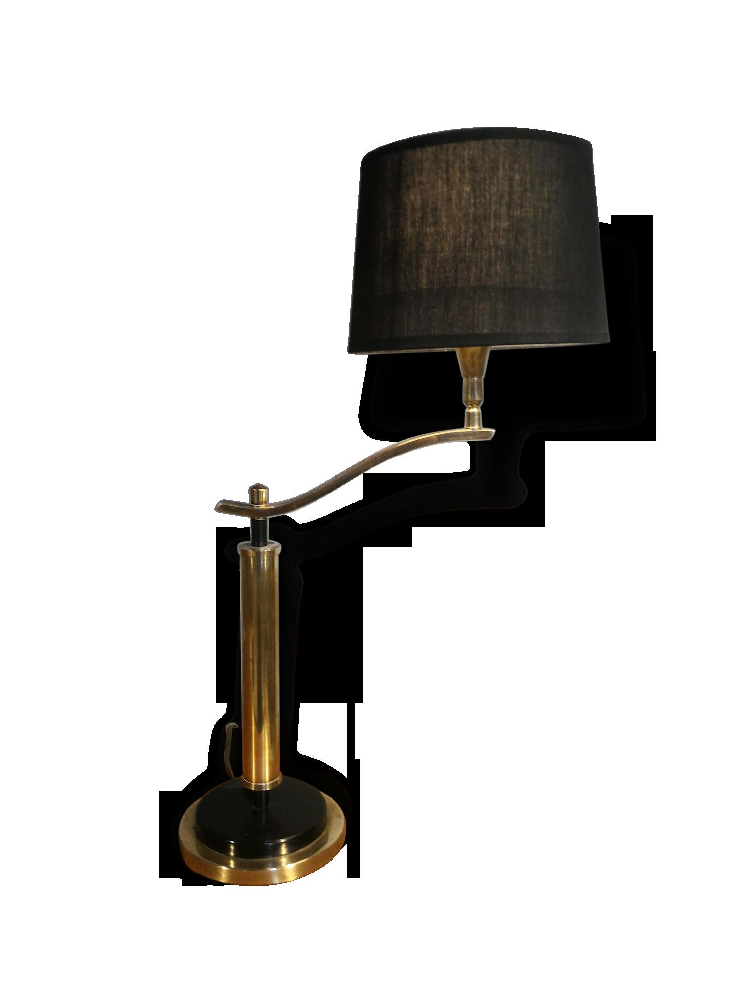 Lampe de bureau laiton laiton noir vintage uk it y
