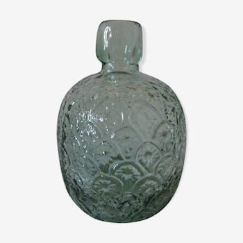 Vase molded glass bottle deco pineapple