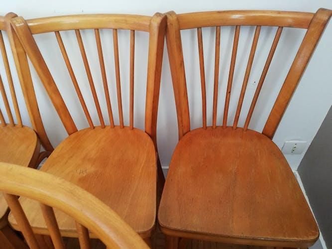 Suite de 9 chaises bistrot Baumann