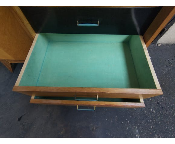 Secretaire armoire pieds compas vintage