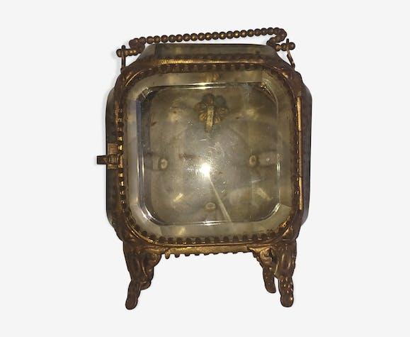 Boite montre en verre et laiton