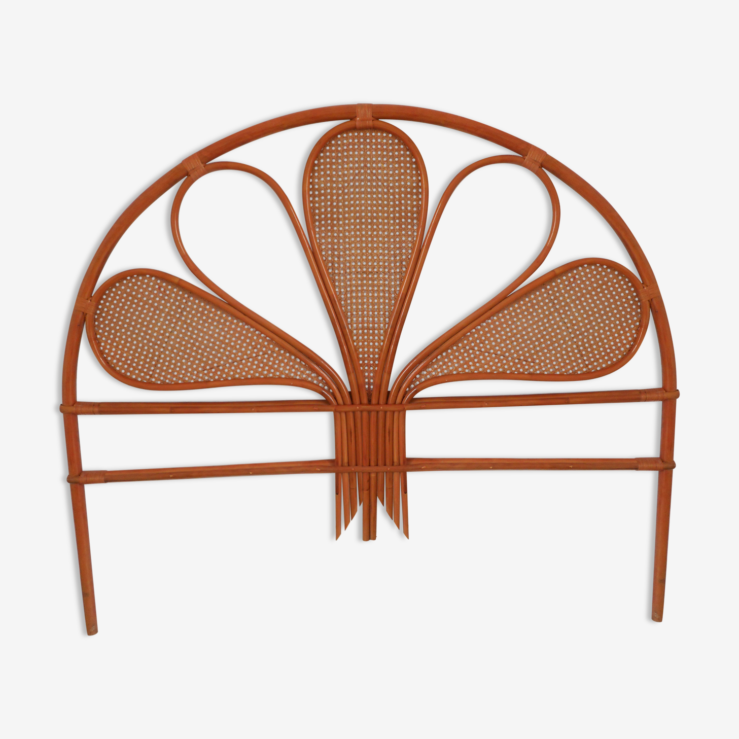 Headboard rattan and caning vintage