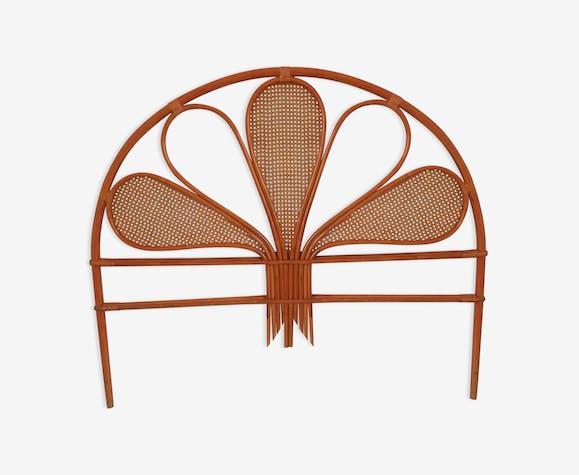 tete de lit vintage en rotin et cannage rotin et osier. Black Bedroom Furniture Sets. Home Design Ideas