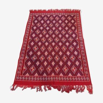 Red mergoum carpets woven by hand 172x240cm