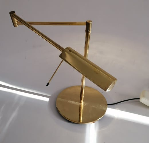 Articulated brass piano lamp