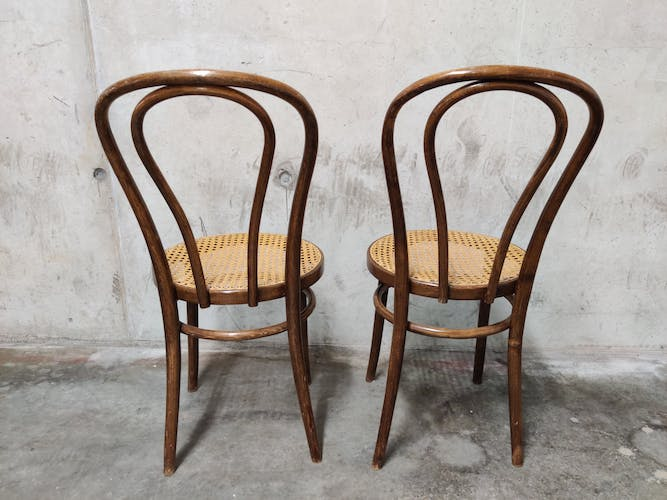 Dining chairs by zpm radomsko, 1950s