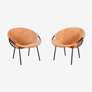 Pair of German chairs for Lusch Erzeugnis, 1960