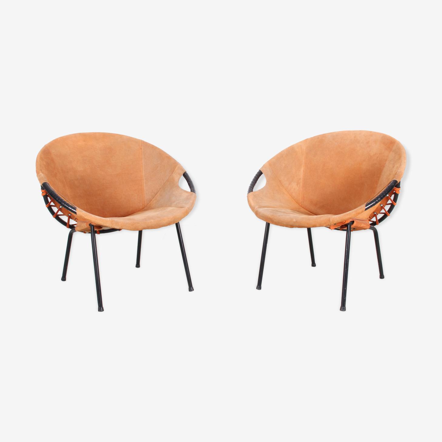 Paire de fauteuils allemands pour Lusch Erzeugnis, 1960