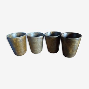 Cups in stoneware digoin