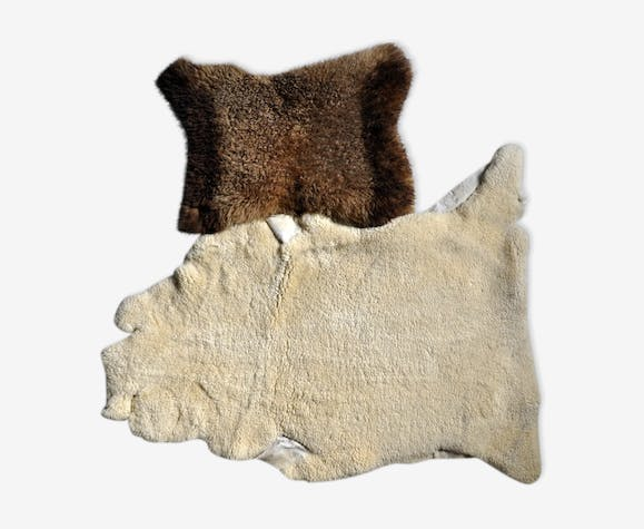 2 sheep skins - skin - brown - vintage - 6Ly0KZd on dry sheep equivalent,