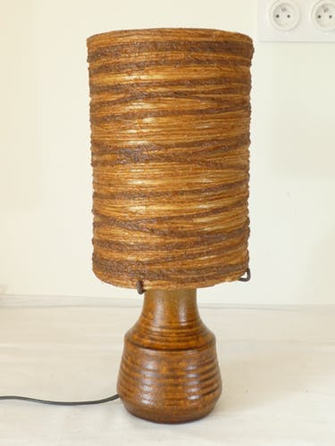 Lampe en céramique d'Avintage annees 50