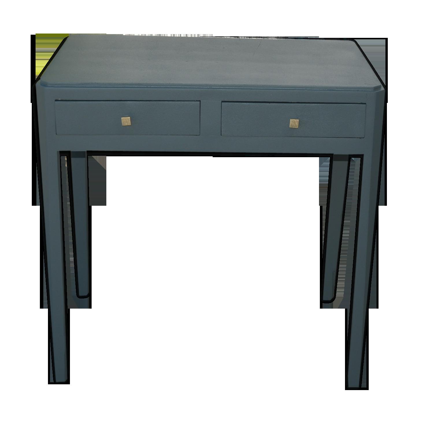Bureau bois matériau gris vintage drkjp f