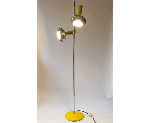 OMI lamppost in brushed aluminium and chrome dating back to the 1970s