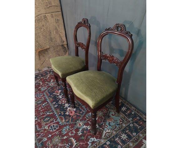 Paire de chaise Louis Philippe en acajou