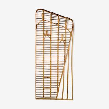 Porte manteaux Louis Sognot bambou et rotin