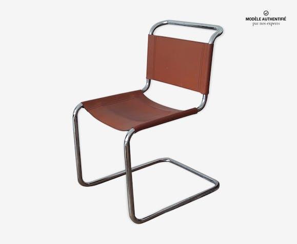 Chaise b33 par Marcel Breuer cuir marron design xwDlcED