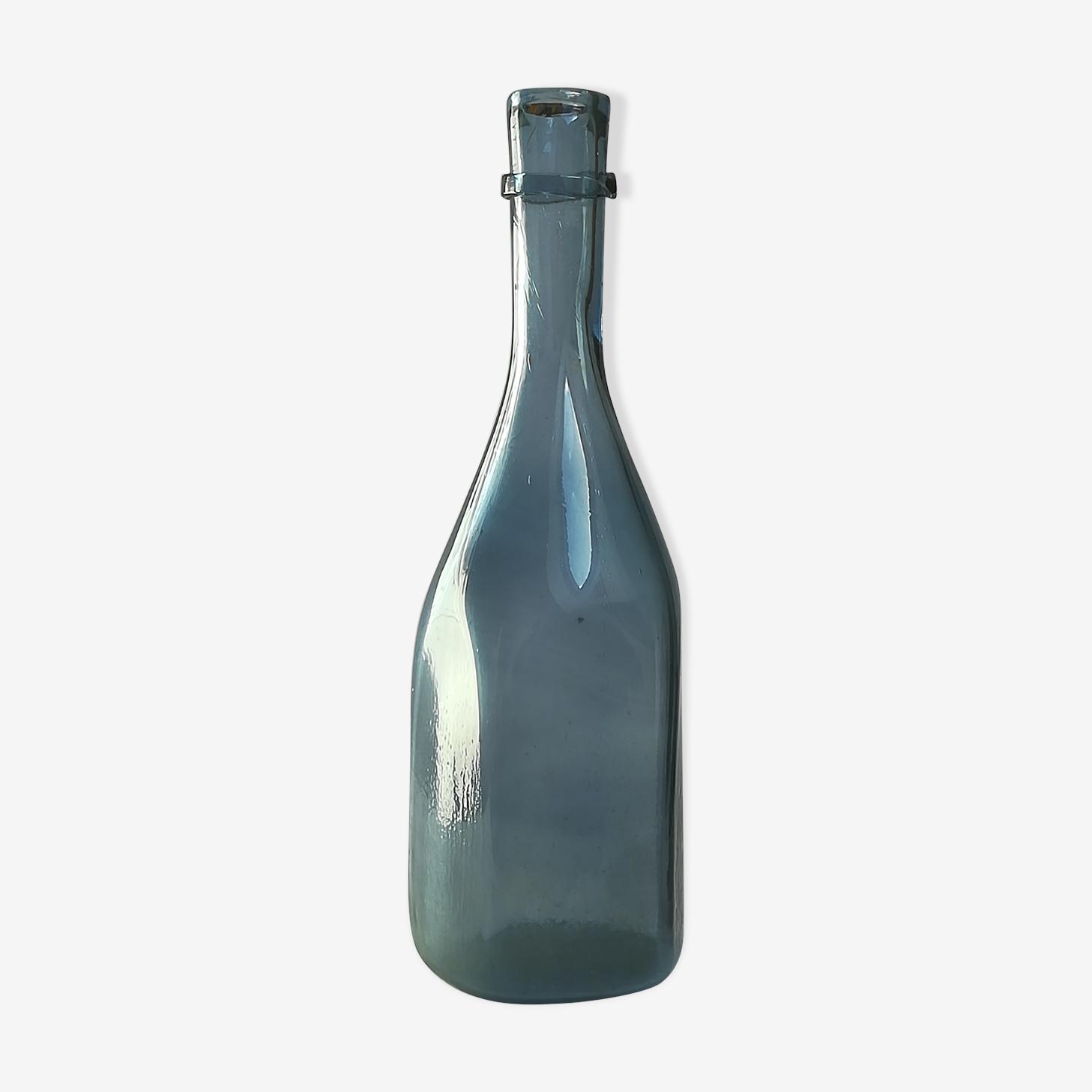 Bouteille verre bleue grand format