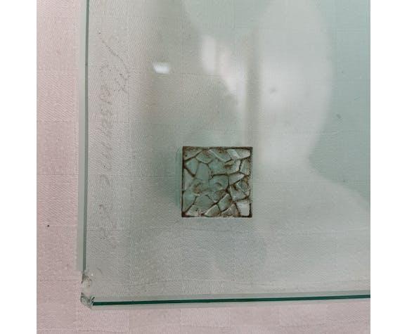 Lampe verre Patrick Desserme  1988