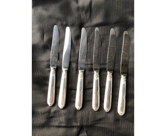 Set de 6 couteaux de table Orfèvre Ravinet d'Enfert