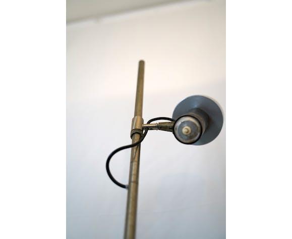 Lampadaire vintage nickel et laque avec diffuseur orientable par Stilux Milano