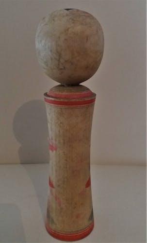 Kokeshi poupée japonaise Naruko signée 21 cm milieu XXème