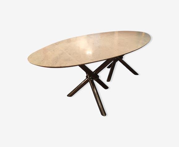 En Vintage Année Pied Blanc Table 50 Marbre Chromé wvn0mN8O