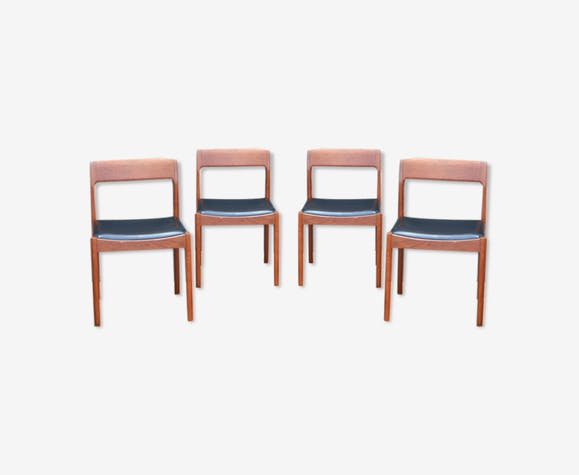 Série de quatre chaises danoises Møbelfabrik