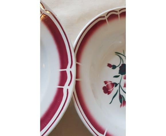 10 assiettes creuses porcelaine opaque