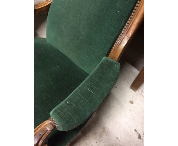 Pair of voltaire noyer armchair