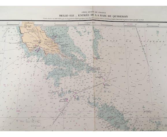 Old Belle-Ile Quiberon navy map