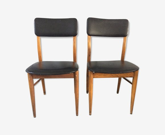 Series of 2 chairs with vintage Scandinavian lines