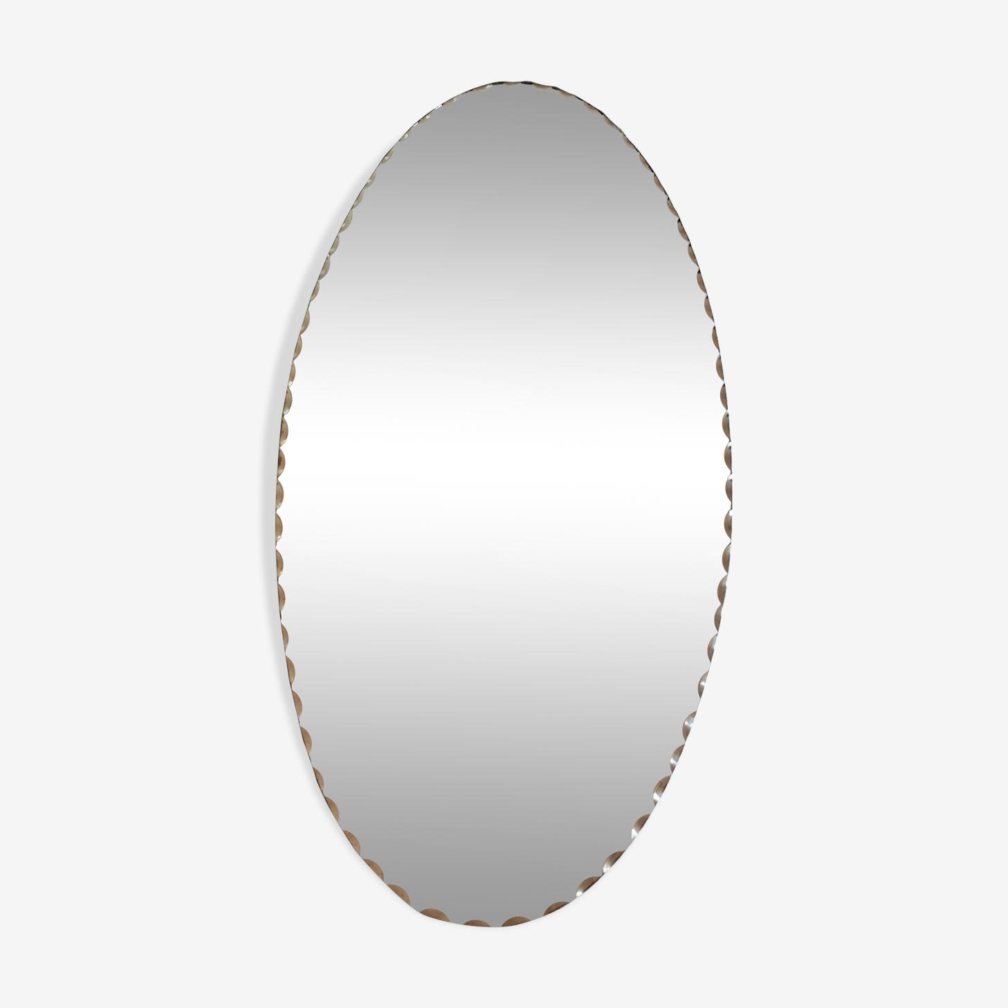 Mirror beveled to ask vintage 50x24cm
